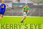 Conor O'Shea South Kerry in Action against Teddy Doyle Kenmare in the County Senior Football Semi Final at Fitzgerald Stadium Killarney on Sunday.