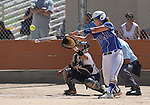 Wildcats' Pamela Sakuma hits against College of Southern Nevada at Edmonds Sports Complex Carson City, Nev., on Saturday, May 2, 2015.<br /> Photo by Cathleen Allison