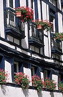 Europe/France/Aquitaine/64/Pyrénées-Atlantiques/Bayonne: Façade d'une maison place Pasteur