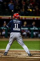 Acciones, durante el juego de beisbol de la Liga Mexicana del Pacifico temporada 2017 2018. Cuarto juego de la serie de playoffs entre Mayos de Navojoa vs Naranjeros. 05Enero2018. (Foto: Luis Gutierrez /NortePhoto.com)
