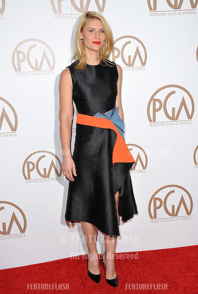 Claire Danes at the 26th Annual Producers Guild Awards at the Hyatt Regency Century Plaza Hotel.<br /> January 24, 2015  Los Angeles, CA<br /> Picture: Paul Smith / Featureflash
