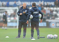Preston North End First Team Coach Frankie McAvoy during the pre-match warm-up <br /> <br /> Photographer Kevin Barnes/CameraSport<br /> <br /> The EFL Sky Bet Championship - Swansea City v Preston North End - Saturday August 11th 2018 - Liberty Stadium - Swansea<br /> <br /> World Copyright &copy; 2018 CameraSport. All rights reserved. 43 Linden Ave. Countesthorpe. Leicester. England. LE8 5PG - Tel: +44 (0) 116 277 4147 - admin@camerasport.com - www.camerasport.com