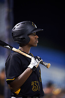 Bradenton Marauders third baseman Ke'Bryan Hayes (31) on deck during a game against the Tampa Yankees on April 15, 2017 at George M. Steinbrenner Field in Tampa, Florida.  Tampa defeated Bradenton 3-2.  (Mike Janes/Four Seam Images)