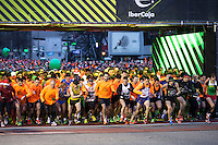 Start of popular race San Silvestre Vallecana in Madrid during the last day of the year