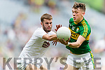 David Clifford Kerry in action against John O'Toole Kildare in the All Ireland Minor Football Semi Final at Croke Park on Sunday.