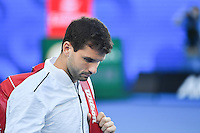 January 27, 2017: Grigor Dimitrov of Bulgaria arrives for a semifinals match against Rafael Nadal of Spain on day 12 of the 2017 Australian Open Grand Slam tennis tournament in Melbourne, Australia. Photo Sydney Low