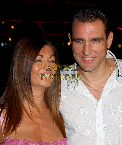 VINNIE JONES & WIFE TANYA.The Big Bounce world premiere held at The Mann Village Theatre in Westwood, California.29 January 2004        .*UK Sales Only*                                                      .www.capitalpictures.com.sales@capitalpictures.com.©Capital Pictures.