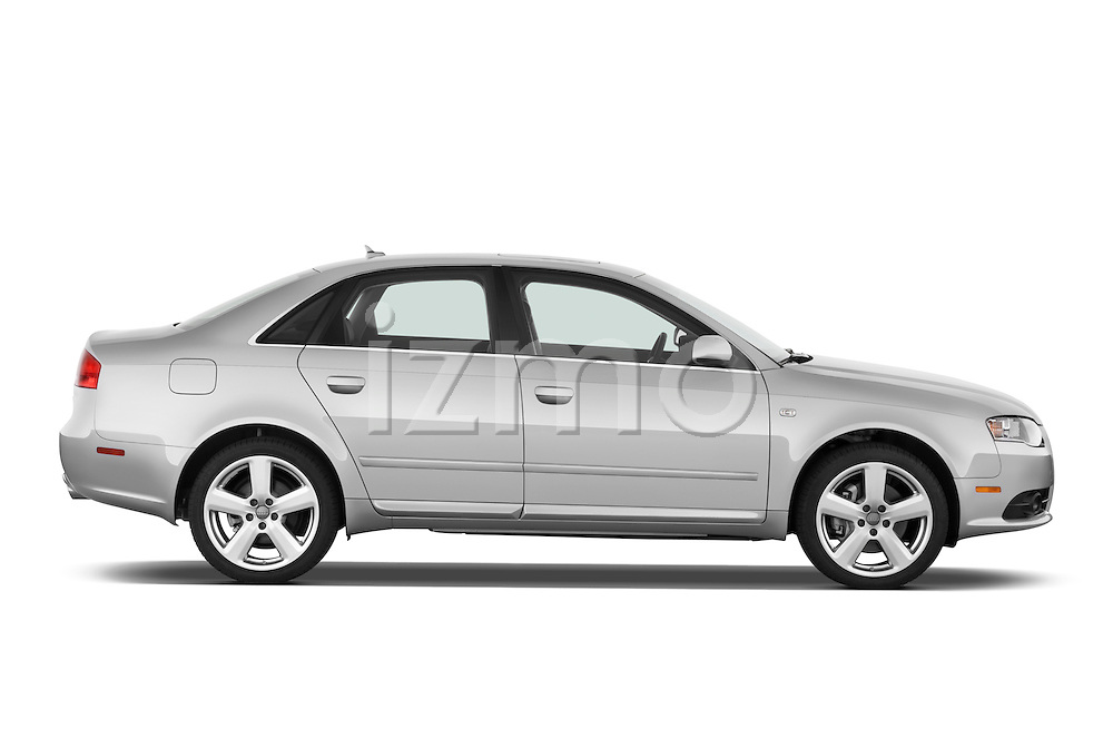 Passenger side profile view of a 2005 - 2008 Audi A4 3.2 Sedan.