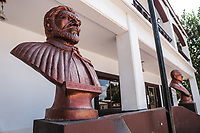 Bust of Juan Bautista de Anza in the Municipal Palace of Fronteras, Sonora, Mexico.<br /> <br /> busto de Juan Bautistab de Anza en el palacio municipal de Fronteras, Sonora, Mexico.