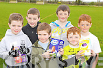 Hunters Sean Dennehy, Liam Moloney, PJ O'Connor, Shane, Colin and Dylan Callaghan who scavaged for eggs at the Farranfore Easter egg hunt in the Firies GAA field..