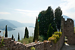 View of Lake Como from Vezio Castel above Varenna, Italy