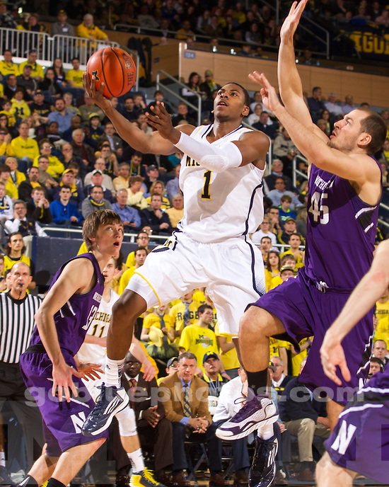 The University of Michigan men's basketball team beat Northwestern, 68-46, at Crisler Center in Ann Arbor, Mich., on January 30, 2013.