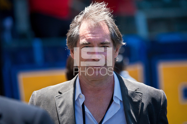 CARSON, CA – July 24, 2011: Actor Timothy Dalton before the match between LA Galaxy and Manchester City FC at the Home Depot Center in Carson, California. Final score Manchester City FC 1 and LA Galaxy 1. Manchester City wins shoot out 7, LA Galaxy 6.