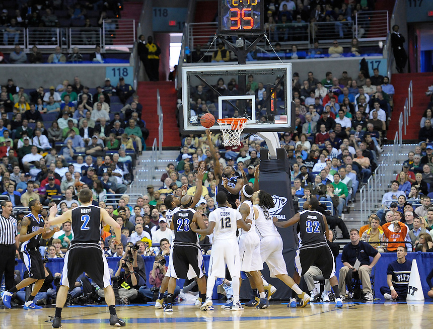 Chris Stephenson gets a bucket underneath the basket. Pittsburgh defeated UNC-Asheville 74-51 during the NCAA tournament at the Verizon Center in Washington, D.C. on Thursday, March 17, 2011. Alan P. Santos/DC Sports Box