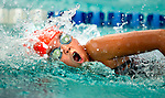 Willow Creek's Olivia Nelson competes in the 50 yard free race during the 53rd annual Country Club Swimming Championships on Monday, Aug. 6, 2012, in Kearns, Utah. (© 2012 Douglas C. Pizac)