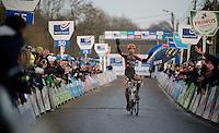 race winner Wout Van Aert (BEL/Vastgoedservice-Golden Palace)<br /> <br /> GP Sven Nys 2015