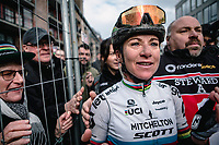 World Champion Annemiek Van Vleuten (NED/Mitchelton Scott) finishes solo and wins the 12th Women's Omloop Het Nieuwsblad 2020 (BEL)<br /> Women's Elite Race <br /> Gent – Ninove: 123km<br /> <br /> ©kramon