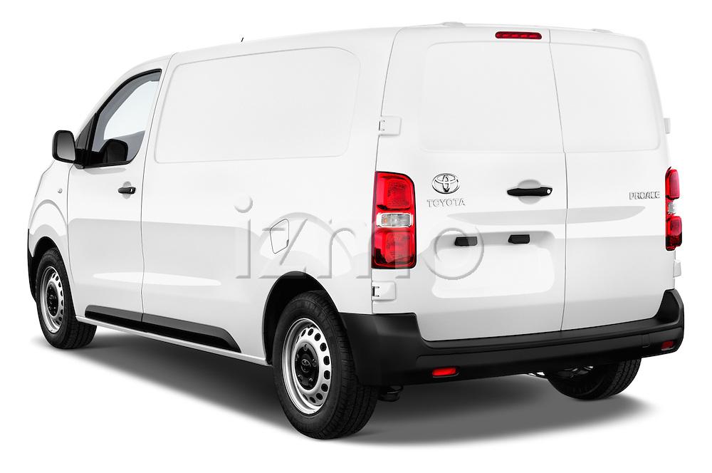 Car pictures of rear three quarter view of 2016 Toyota Proace Comfort 4 Door Cargo Van Angular Rear