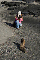 Ecotourism, Mimmi Widstrand, Fernandina island, Punta espinosa, Galapagos, Ecuador.