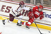 Melissa Bizzari (BC - 4), Lauriane Rougeau (Cornell - 7) - The Boston College Eagles defeated the visiting Cornell University Big Red 4-3 (OT) on Sunday, January 11, 2012, at Kelley Rink in Conte Forum in Chestnut Hill, Massachusetts.