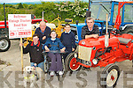 VINTAGE LAUNCH: Launching the annual Ballymac Vintage Tractor Road Run in aid of the Irish Dogs for the Disabled which will start from O'Riadas on Sunday the 13th of June at 12:30 at Clifford's, Ballymac on Monday l-r: Pat Mangan, Con Lyons, Clodagh Mangan, Darragh Clifford, Noel Clifford and Abbie the dog.