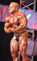 Bodybuilder Craig Titus poses during the 2004 Arnold Classic bodybuilding competition in Columbus, Ohio, in this March 7, 2004, file photo. Titus and his wife, Kelly Ryan, have been charged in the murder and burning of the body of their roommate in Las Vegas.