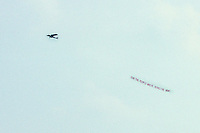 Aerial Advertising for The Army at The Grateful Dead Concert at Raceway Park, Englishtown NJ on 3 September 1977. Labor Day Weekend.