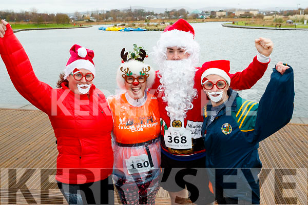 Taking part in the Santa Run at Tralee Bay Wetlands on Sunday morning last, were l-r: Sharon Cronin, Ashleigh O'Shea, Colin Aherne and Carol Daly.