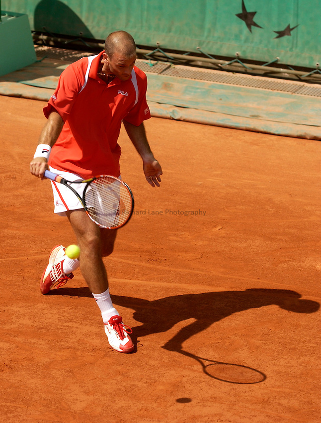 Photo. Jed Wee..French Open Tennis Championships, Rolland Garros, Paris, France. 26/05/2003..Cyril Saulnier.