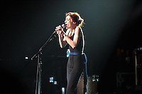 Fiona Apple in concert at The Fillmore in Detroit, Michigan. July 7, 2012. &copy;&nbsp;Joe Gall/MediaPunch Inc. /*NORTEPHOTO*<br />