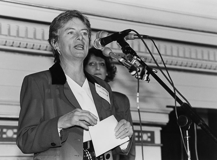 Senate Candidate Mary O. Boyle, D-Ohio, in December 1993. (Photo by Laura Patterson/CQ Roll Call via Getty Images)