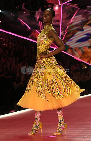 NEW YORK, NY - NOVEMBER 08: Mayowa Nicholas at the 2018 Victoria's Secret Fashion Show at Pier 94 on November 8, 2018 in New York City. Credit: John Palmer/MediaPunch