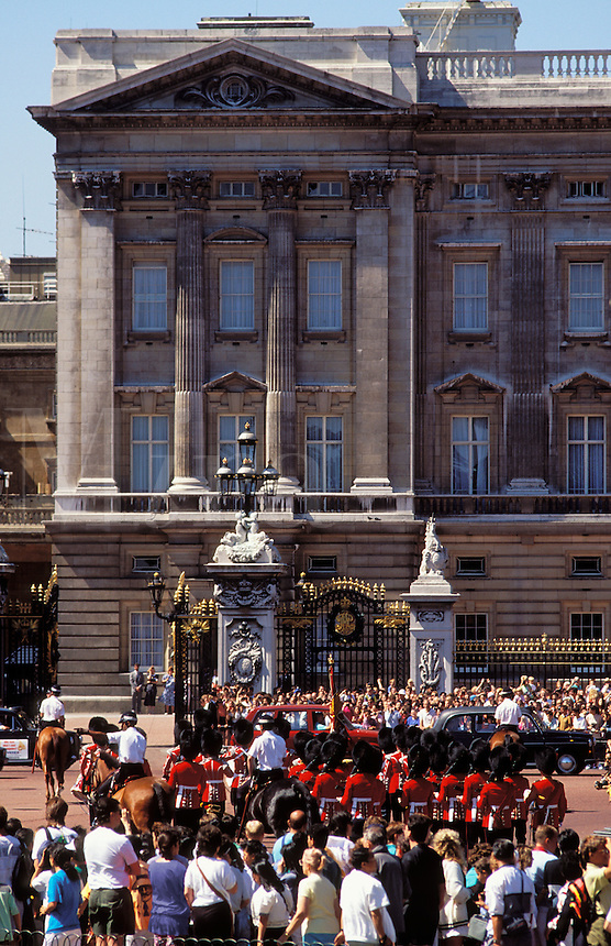 England. London. Buckingham Palace.  Changing the Guard at the end of the Trooping the Colour/Color ceremony