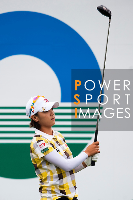 TAOYUAN, TAIWAN - OCTOBER 21: Na Yeo Choi of South Korea tees off on the 1st hole during day two of the LPGA Imperial Springs Taiwan Championship at Sunrise Golf Course on October 21, 2011 in Taoyuan, Taiwan. (Photo by Victor Fraile/Getty Images)