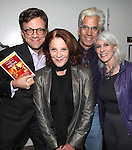Jim Caruso, Linda Lavin, Director Steve Bakunas and Jamie DeRoy at The Red Barn Studio Theatre Off-Broadway production of 'Positions' at the Roy Arias Studio Theatre on October 10, 2012 in New York City.