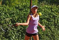 Netherlands, Dordrecht, August 03, 2015, Tennis,  National Junior Championships, NJK, TV Dash 35, Benthe Spee<br /> Photo: Tennisimages/Henk Koster