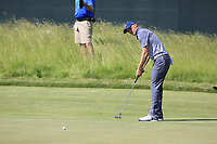 Jordan Spieth (USA) takes his putt on the 6th green during Friday's Round 2 of the 117th U.S. Open Championship 2017 held at Erin Hills, Erin, Wisconsin, USA. 16th June 2017.<br /> Picture: Eoin Clarke | Golffile<br /> <br /> <br /> All photos usage must carry mandatory copyright credit (&copy; Golffile | Eoin Clarke)