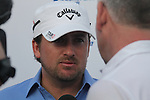 Graeme McDowell speaking after his first round of the Dubai World Championship on the Earth Course at the Jumeirah Golf Estate, Dubai..Picture Fran Caffrey/www.golffile.ie.
