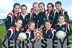 Champs: Pictured after their North Kerry Cumman na mBunscoil Mini Sevens victory this week were Girl's Convent Primary School pupils front l-r Sinead O'Donnell, Doireann Tarrant, Megan Fealey and Sarah Moriarty. Back l-r Sarah O'Brien, Hazel Neill, Ciara Gallagher (captain), Liz Stack, Joanne Lync and Savanagh McCarthy. Missing from photo Maimie O'Flynn.