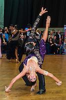 Attila Lorincz and Annamaria Kalmar of Hungary perform their dance during the Hungarian Amateur Latin Championships held in Budapest, Hungary. Sunday, 06. February 2011. ATTILA VOLGYI