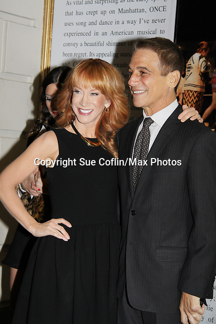 Kathy Griffin and Tony Danza - All My Children - Only Make Believe on Broadway - 14th Annual Gala - on November 4, 2013 hosted by Sir Ian McKellen honoring Susan Sarandon in New York City, New York.  (Photo by Sue Coflin/Max Photos)