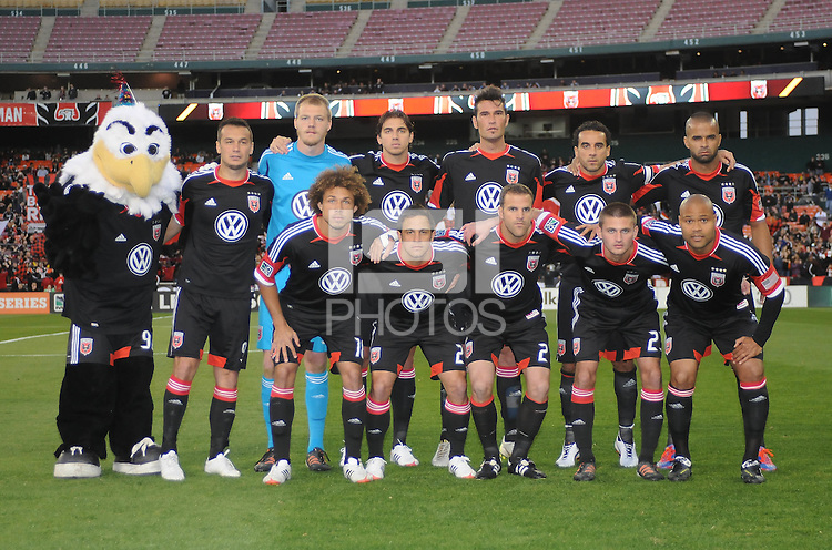 D.C. United starting elven.  D.C. United tied The Seattle Sounders 0-0 at RFK Stadium, Saturday April 7 , 2012.