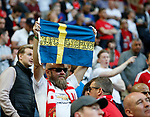 Manchester United fans before the UEFA Europa League Final match at the Friends Arena, Stockholm. Picture date: May 24th, 2017.Picture credit should read: Matt McNulty/Sportimage