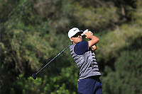Oscar Lengden (SWE) on the 5th tee during Round 3 of the Challenge Tour Grand Final 2019 at Club de Golf Alcanada, Port d'Alcúdia, Mallorca, Spain on Saturday 9th November 2019.<br /> Picture:  Thos Caffrey / Golffile<br /> <br /> All photo usage must carry mandatory copyright credit (© Golffile | Thos Caffrey)
