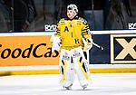 Stockholm 2014-11-16 Ishockey Hockeyallsvenskan AIK - IF Bj&ouml;rkl&ouml;ven :  <br /> AIK:s m&aring;lvakt Robin Rahm <br /> (Foto: Kenta J&ouml;nsson) Nyckelord:  AIK Gnaget Hockeyallsvenskan Allsvenskan Hovet Johanneshov Isstadion Bj&ouml;rkl&ouml;ven L&ouml;ven IFB portr&auml;tt portrait