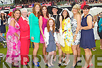 Tara O'Connell had her Hen party at Killarney races on Thursday, from left: Michaela Edwards, Rose O'Connor, Karen Griffin, Sandra O'Riordan, Ava O'Connell, Tara O'Connell, Mary Bowler, Maria Maher, all from Tralee.