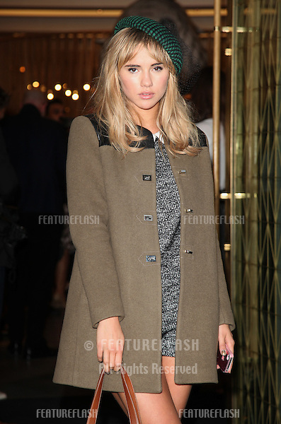 Suki Waterhouse arriving for the Vogue's Fashion Night Out, Mulberry Party, at Mulberry, London. 06/09/2012 Picture by: Alexandra Glen / Featureflash