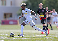 Action from the ISPS Handa Premiership football match between Team Wellington and Canterbury United at English Park in Christchurch, New Zealand on Sunday, 11 March 2018. Photo: Martin Hunter/ lintottphoto.co.nz