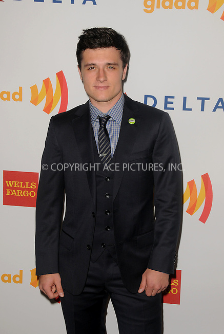 WWW.ACEPIXS.COM . . . . .  ....April 21 2012, LA....Josh Hutcherson arriving at the 23rd Annual GLAAD Media Awards at the Westin Bonaventure Hotel on April 21, 2012 in Los Angeles, California....Please byline: PETER WEST - ACE PICTURES.... *** ***..Ace Pictures, Inc:  ..Philip Vaughan (212) 243-8787 or (646) 769 0430..e-mail: info@acepixs.com..web: http://www.acepixs.com