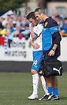 Nicky Clark taken off by Rangers physio Stevie Walker